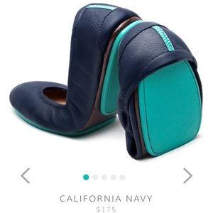 Tieks California navy blue flats